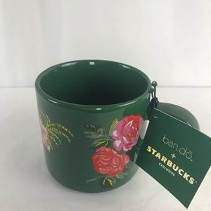 Starbucks Bando Ceramic Coffee Mug Floral 12oz